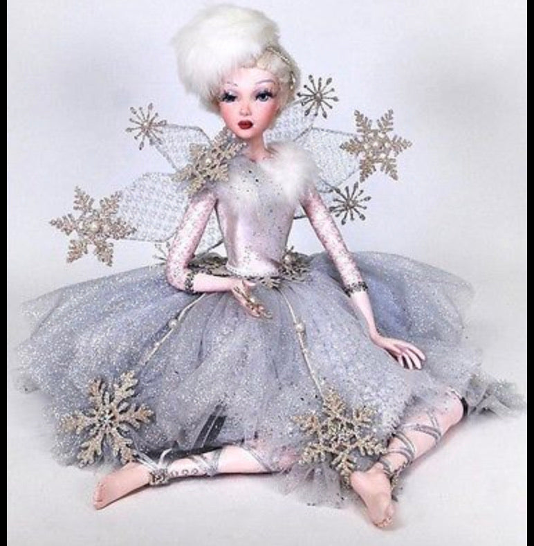 Katherine's Collection Retired Sitting Snow Queen Fairy