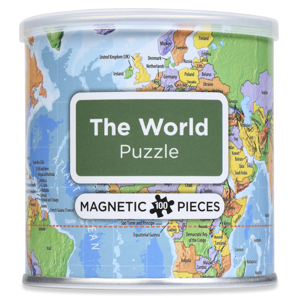 The World 100 Piece Magnetic Puzzle