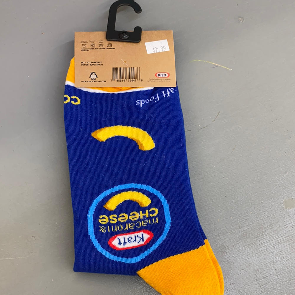 Kraft Mac n Cheese Folded Crew Socks