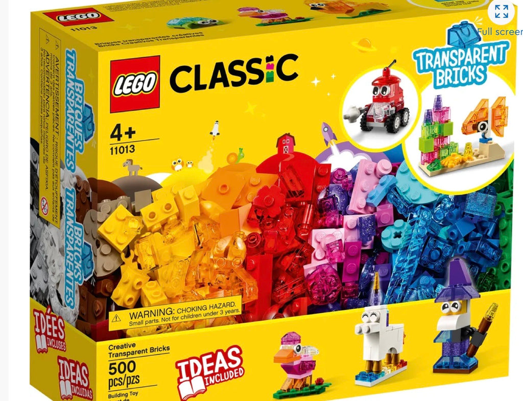 Lego Classic Creative Transparent Bricks 500pcs