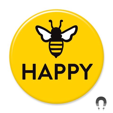 Bee Happy v2 Magnet