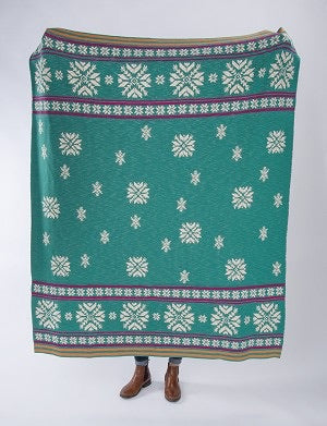 Bohemian Nordic Snowflake Woven Cotton Blanket Throw 50x60