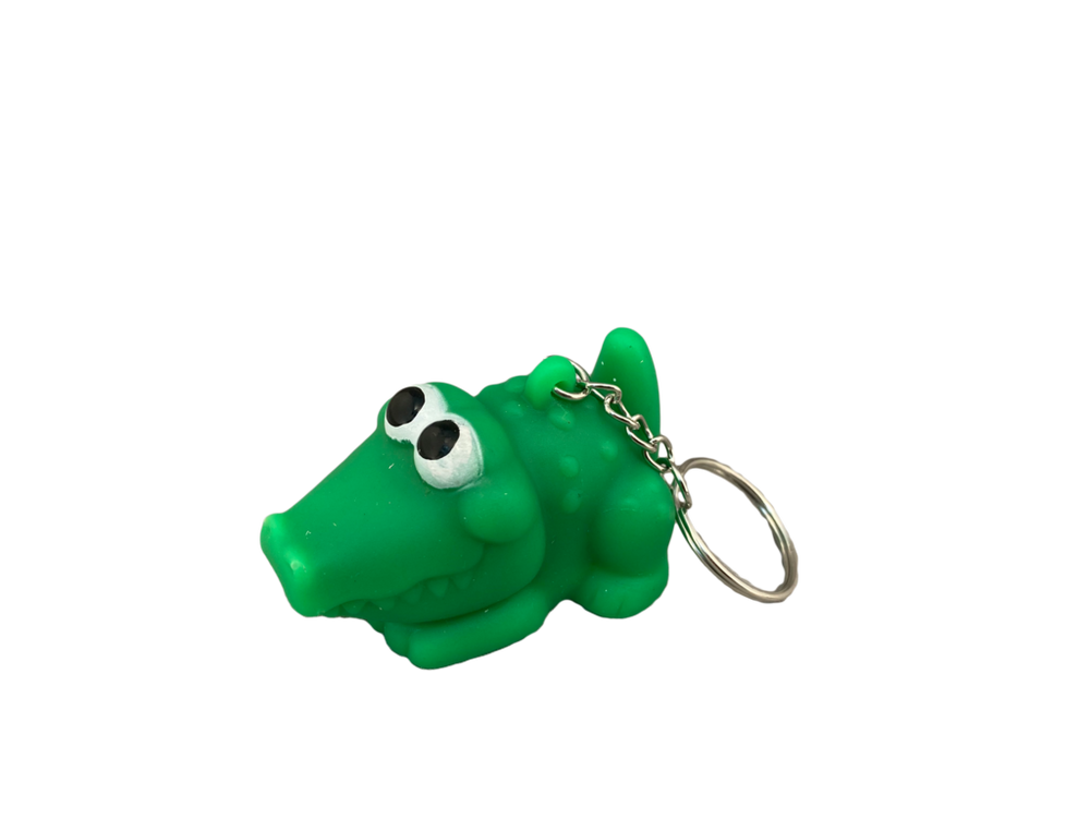 Squeeze Pooping Alligator Keychain