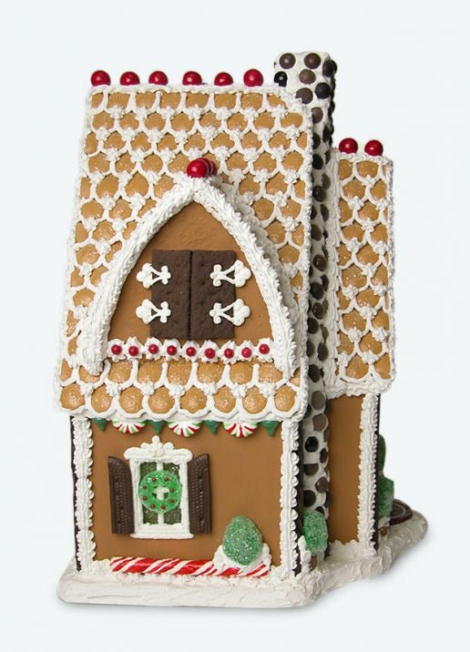 Rock Candy Chimney Gingerbread House