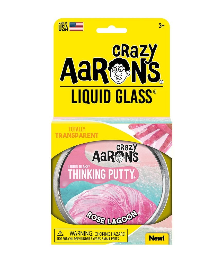 Liquid Glass Thinking Putty in Rose Lagoon