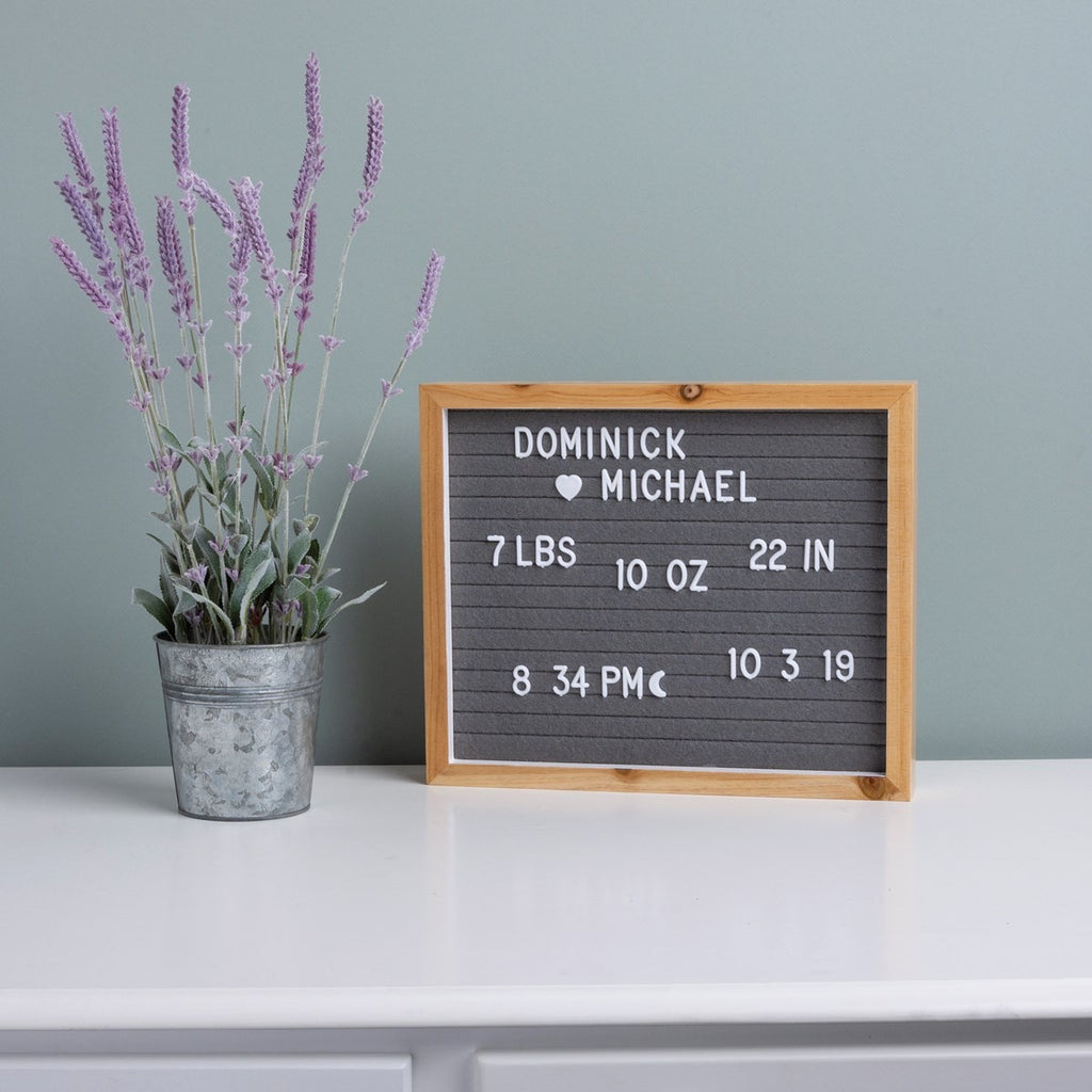 Letter Board - Natural Gray