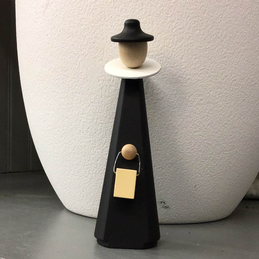 Wooden Figure in Black
