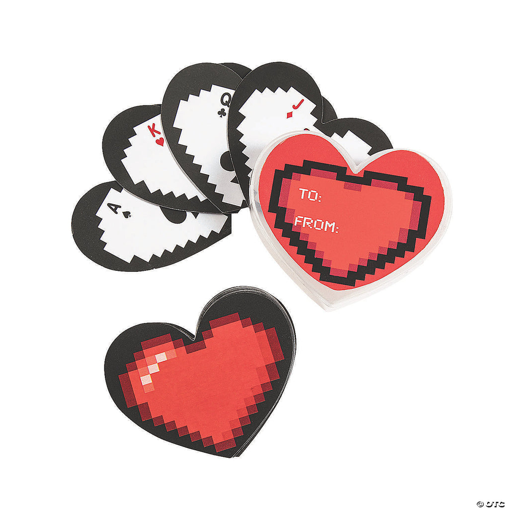 Heart Shaped Playing Cards - heartcard