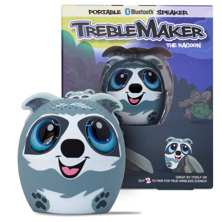 TREBLE MAKER the Raccoon! Pet Audio Speaker