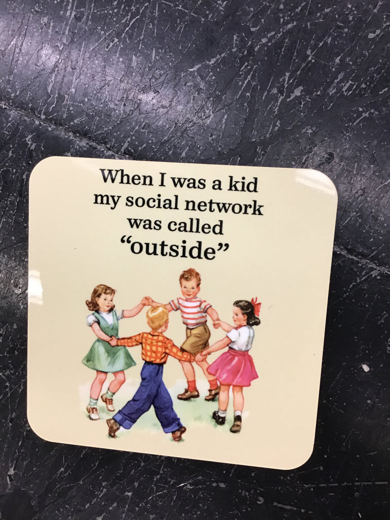 "Jim Spinx ""When I was a kid"" Coaster"