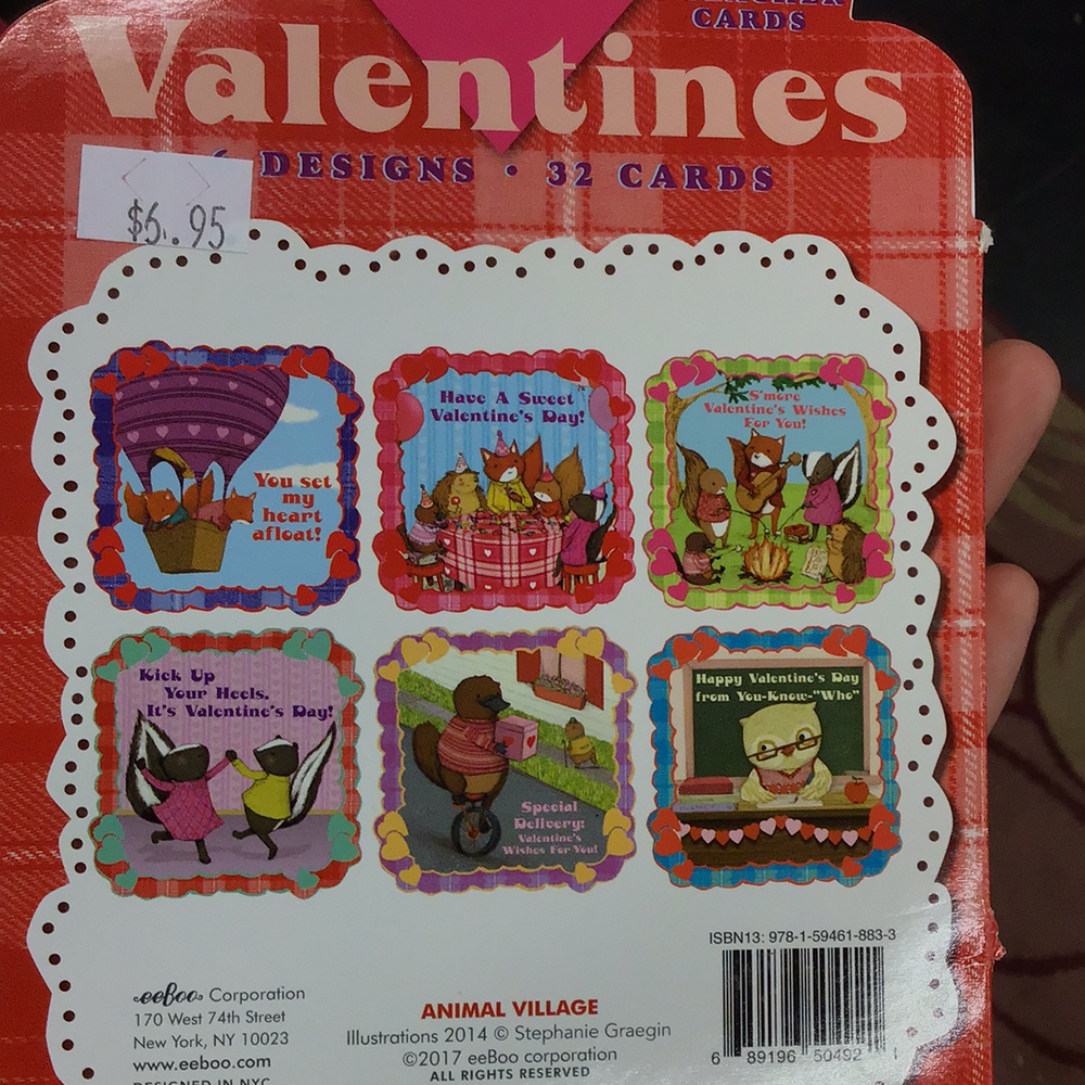 "Eeboo ""Have a Sweet Valentines Day!"" Valentines Day Card Pack"