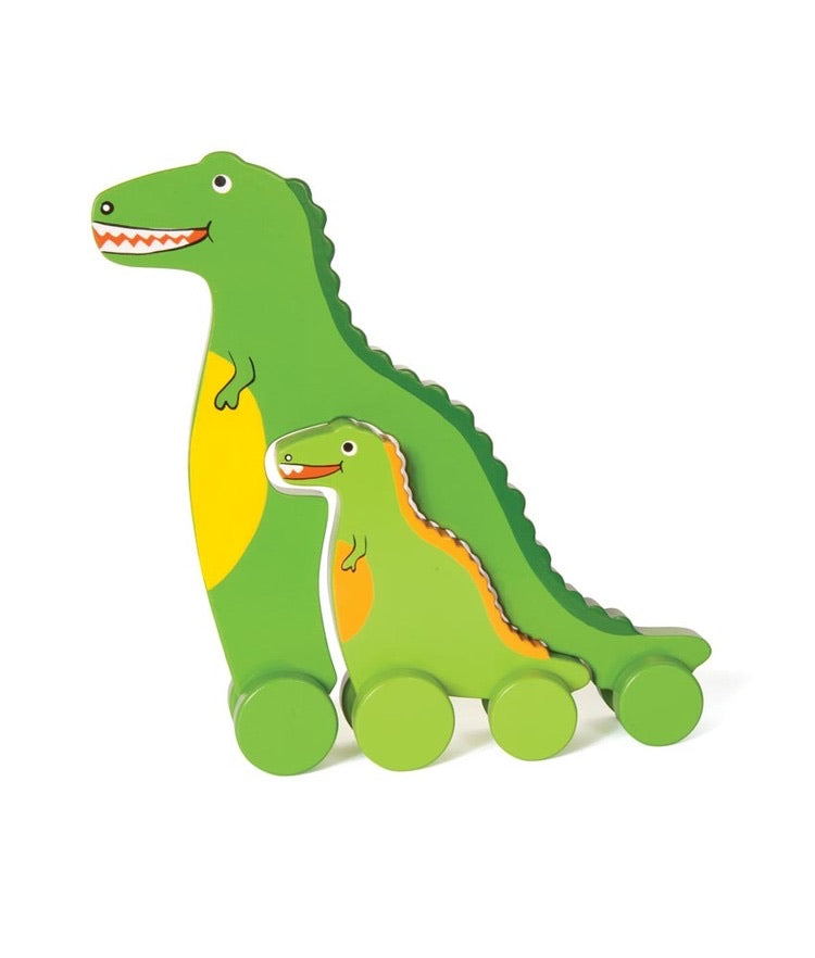 T-Rex Mommy and Baby Push Toy (Big and Little)