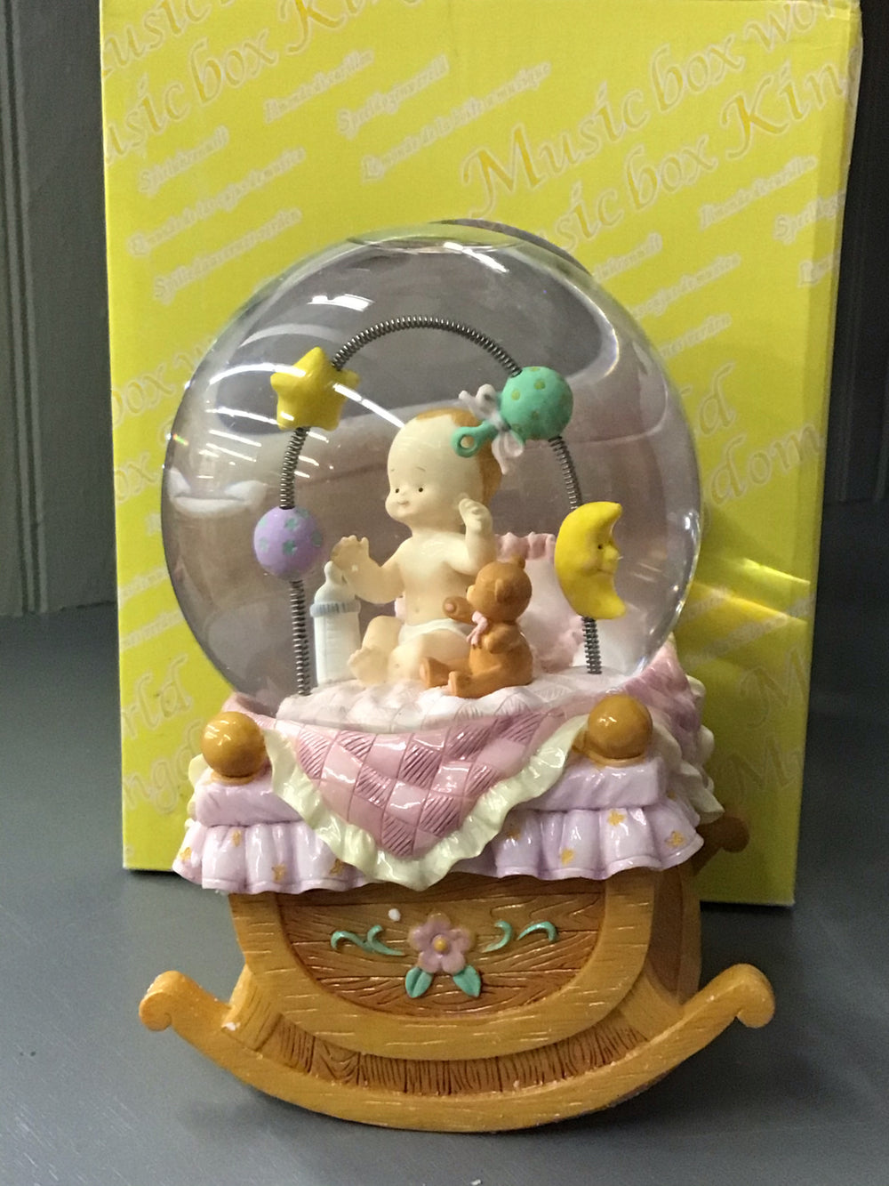 Mozart's Lullaby Baby Snow-globe Music Box