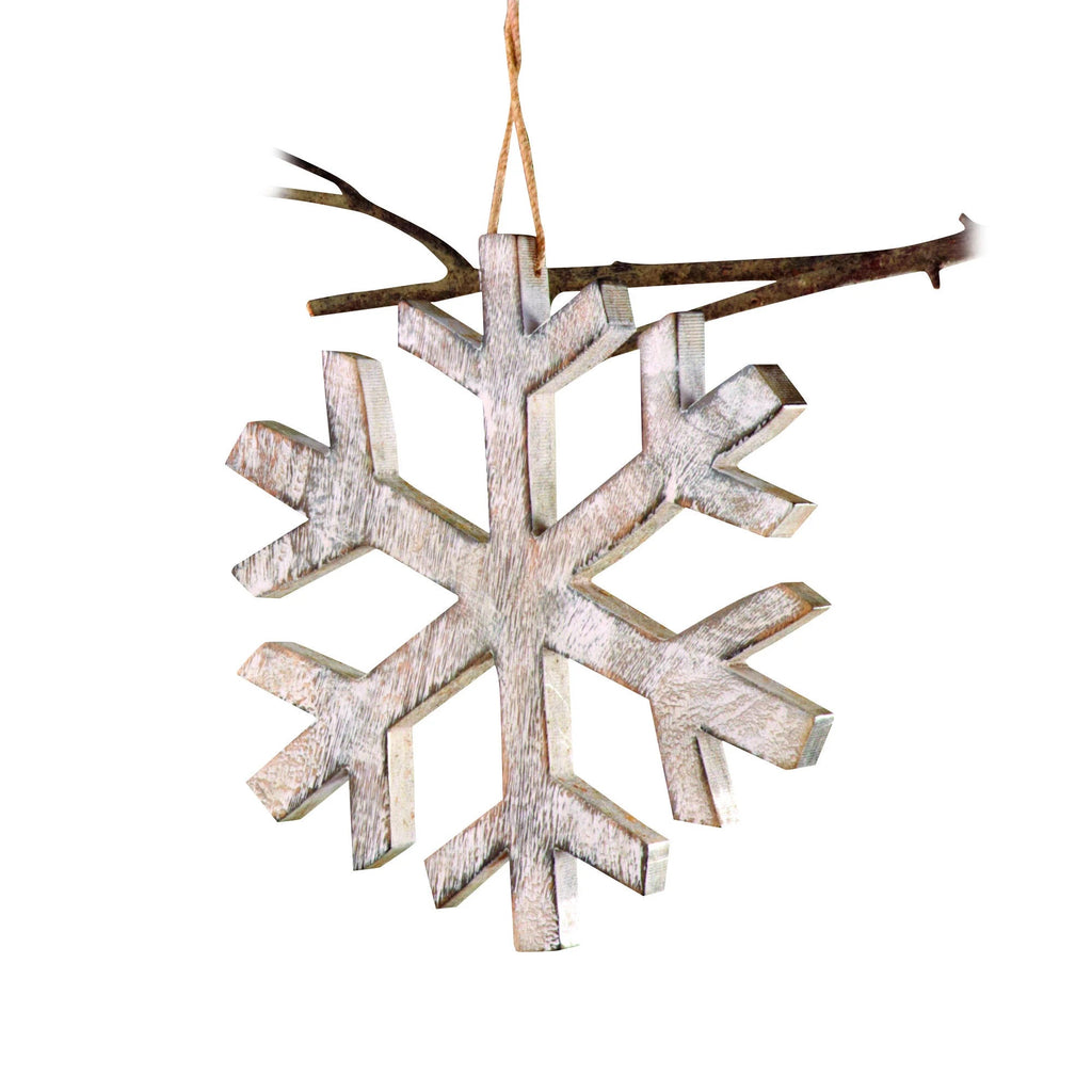 12 Inch Large Wooden Snowflake