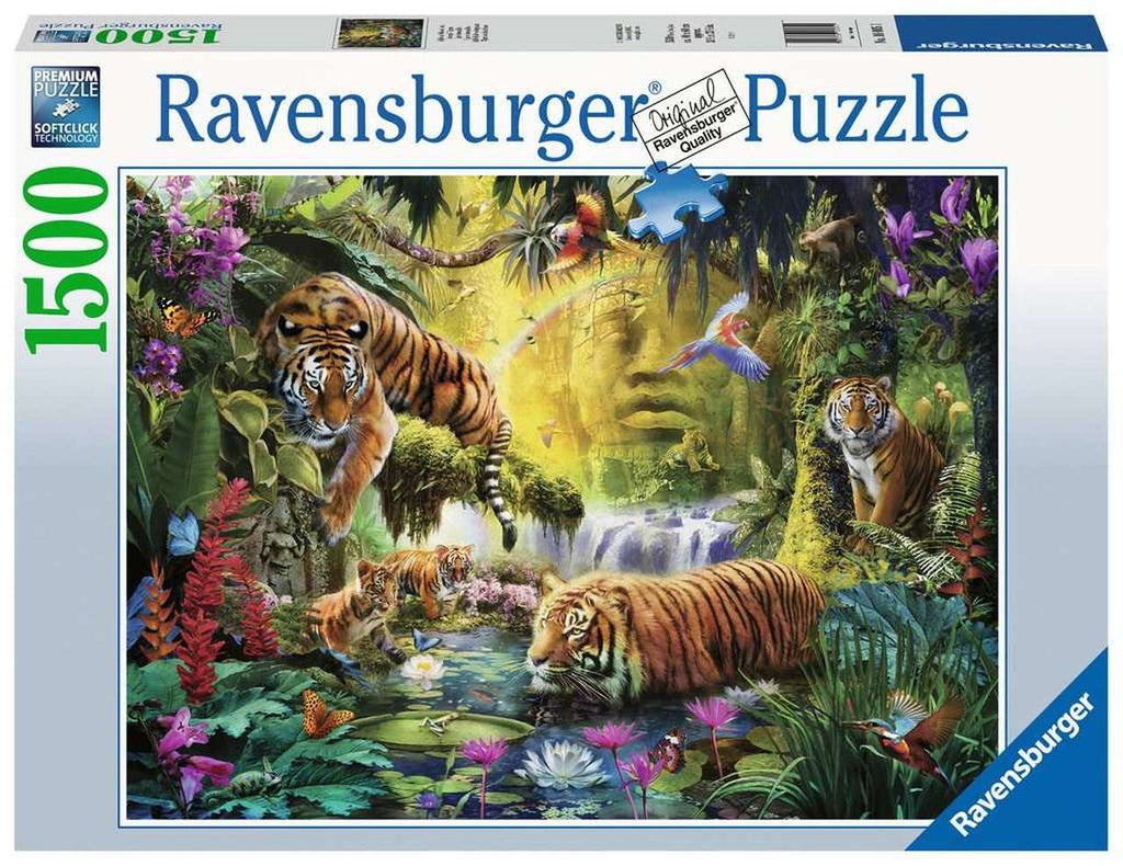 Tranquil Tigers - 1500pc Jigsaw Puzzle