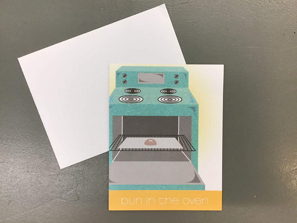 Bun in the oven Congratulations Card