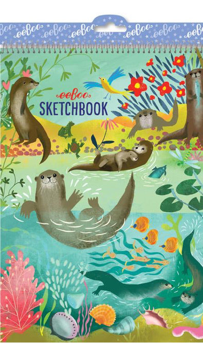 Otters at Play Sketchbook