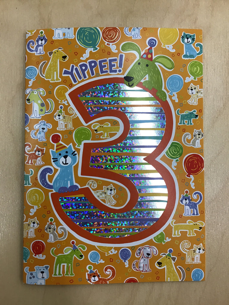 Yippee! 3rd Birthday Card