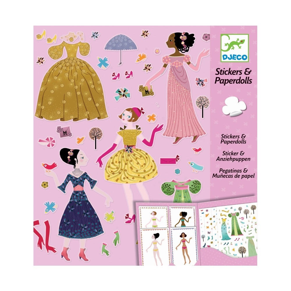 Four Seasons of Dress Reusable Stickers and Paper Dolls Set
