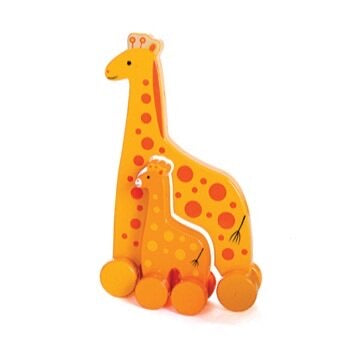 Giraffe Mommy and Baby Rolling Toy (Big and Little)