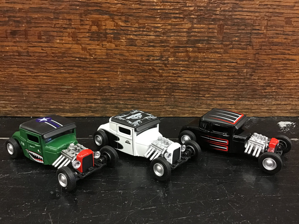 Diecast Pull-back Antique Muscle Car (Hot Rod)
