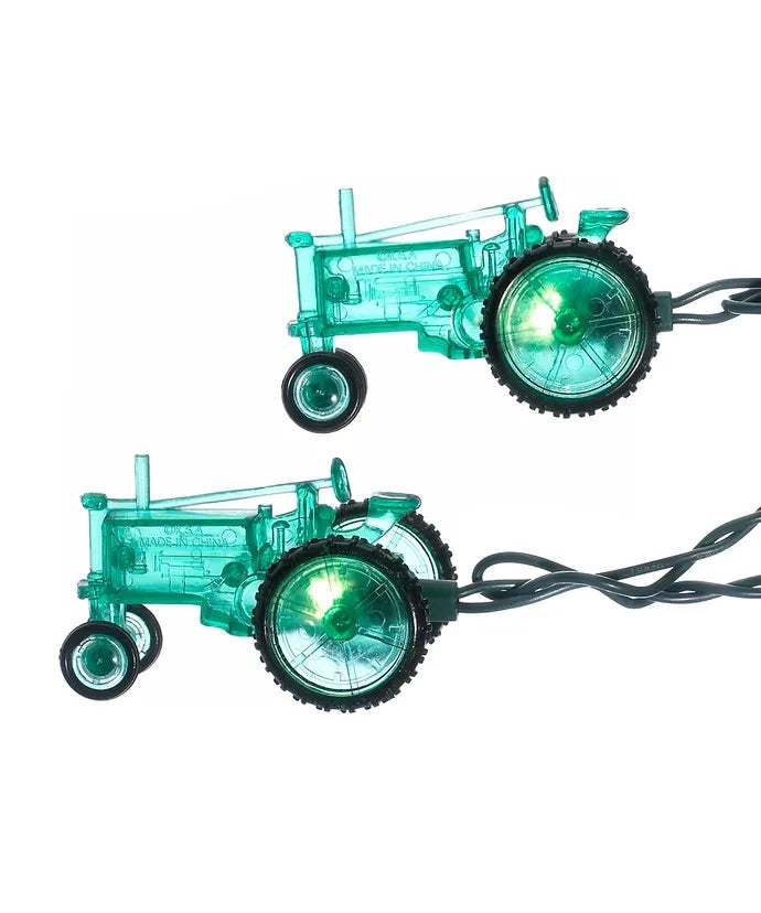 10-Light Green Tractor Light Set