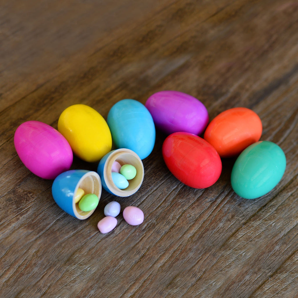 Wooden Candy Hiding Eggs