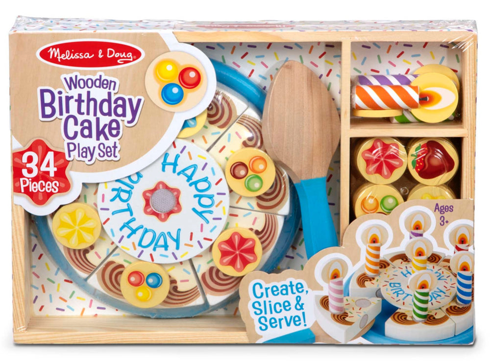 Wooden Birthday Cake Play Set