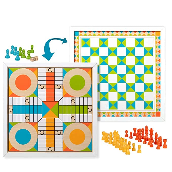 Wooden Chess & Pachisi - Color