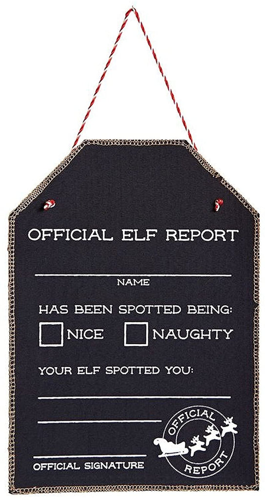 Official Elf Report Chalkboard Sign