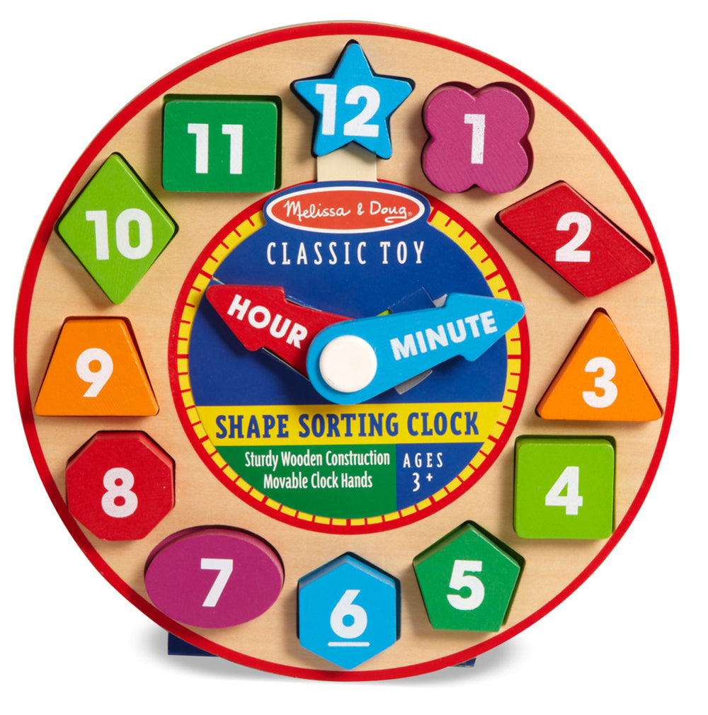 Shape Sorting Clock Wooden Classic Toy