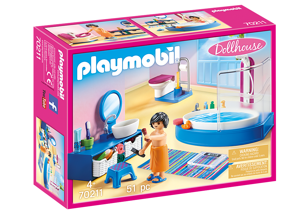 Playmobil Dollhouse 70211 Bathroom with Tub