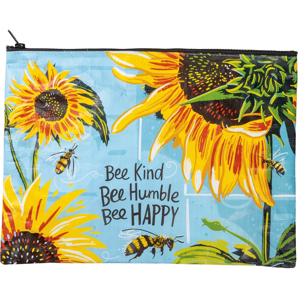 Bee Kind Bee Humble Bee Happy Zipper Folder
