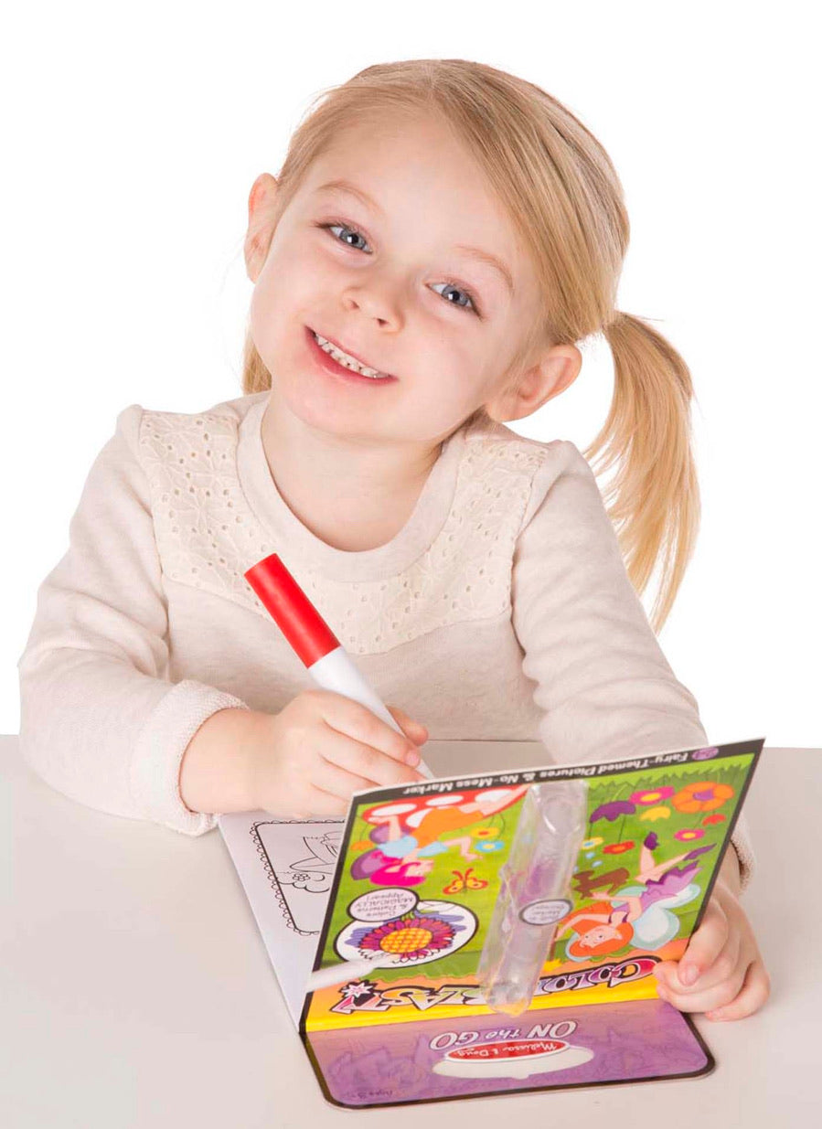 Color Blast! Fairies No-Mess Coloring Pad