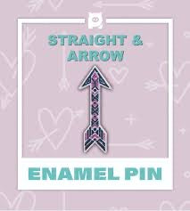 Straight and Arrow Enamel Pin