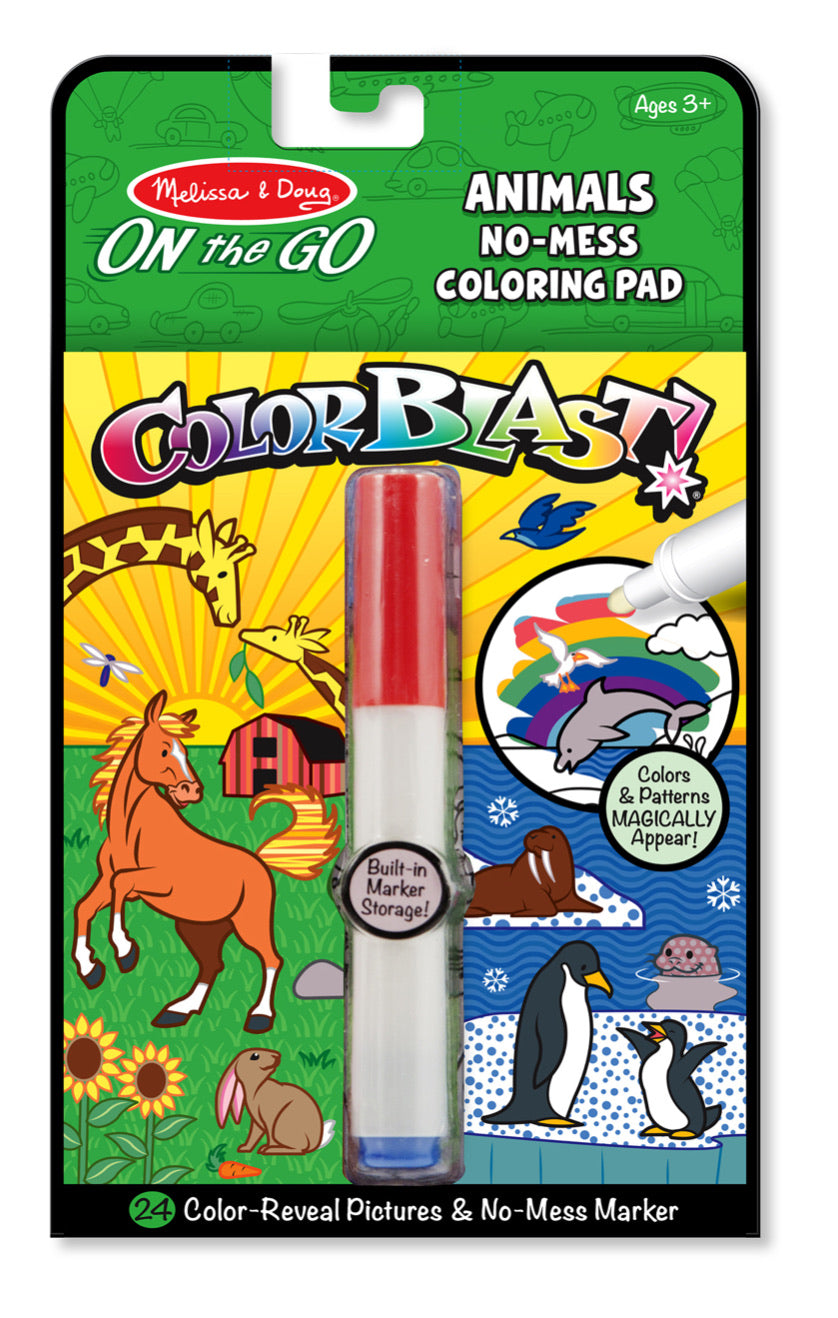 Color Blast! Animals No-Mess Coloring Pad
