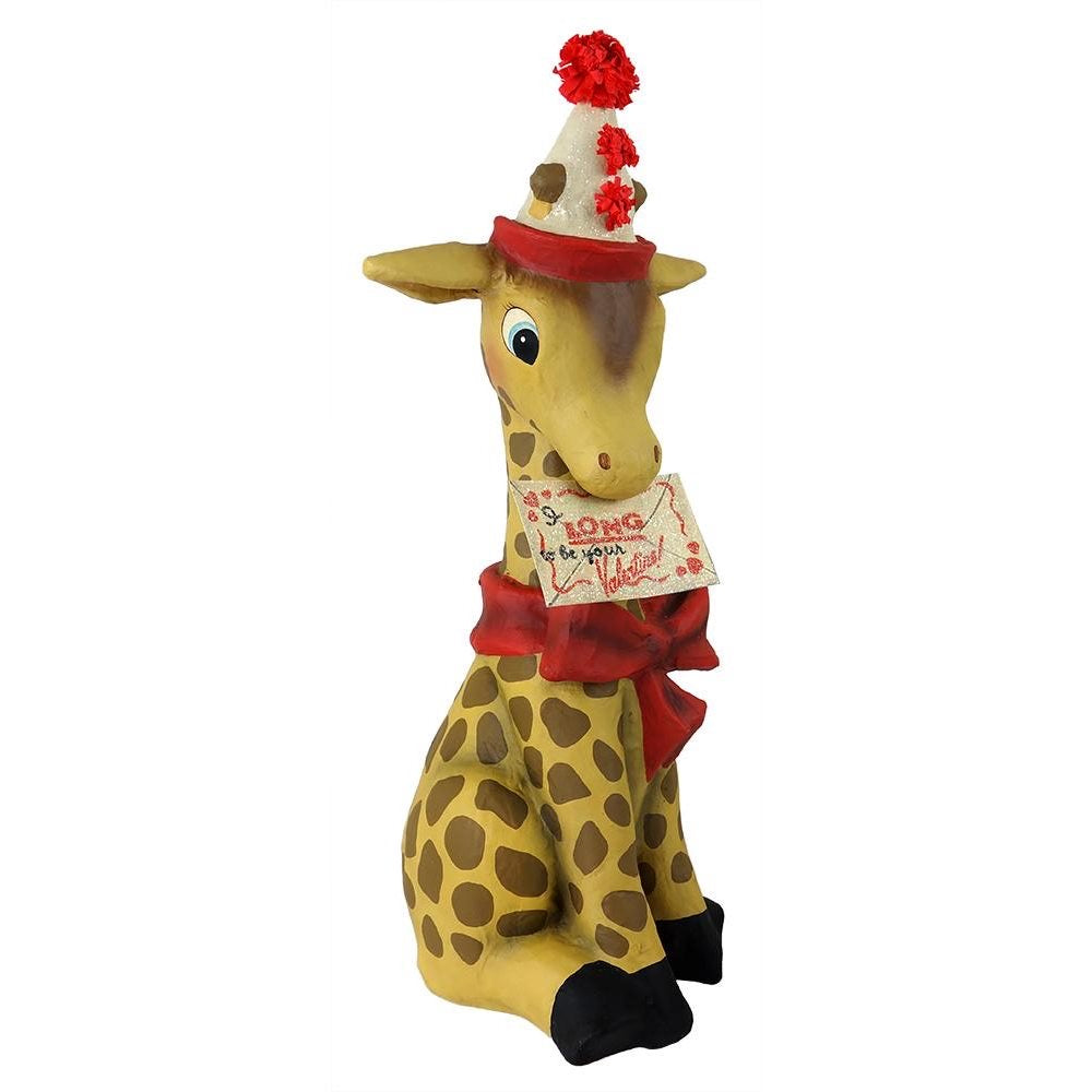 "Bethany Lowe Valentines Giraffe ""I Long To Be With You"""