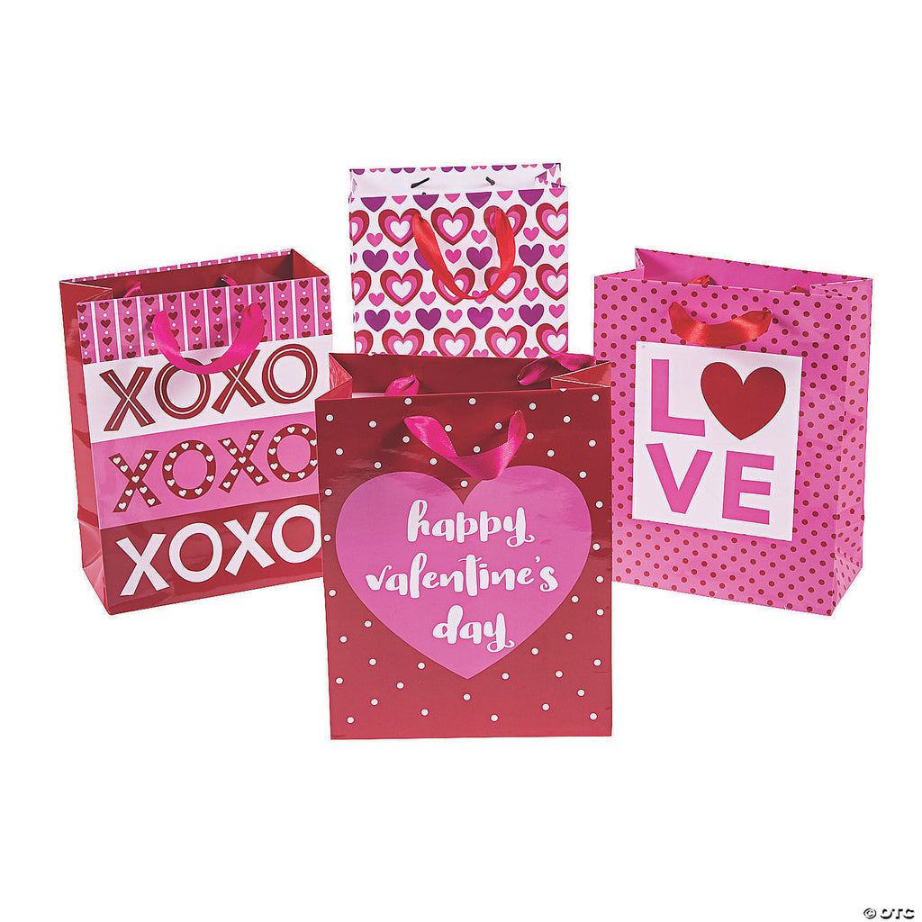 Assorted Medium Valentines Gift Bags