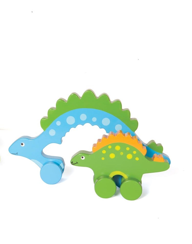 Stego Mommy and Baby Push Toy (Big and Little)