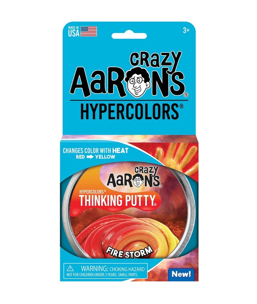 Hypercolors Thinking Putty in Firestorm