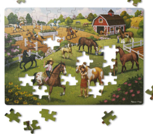 Natural Play Puzzle: Horse Adventure - 100 Pieces