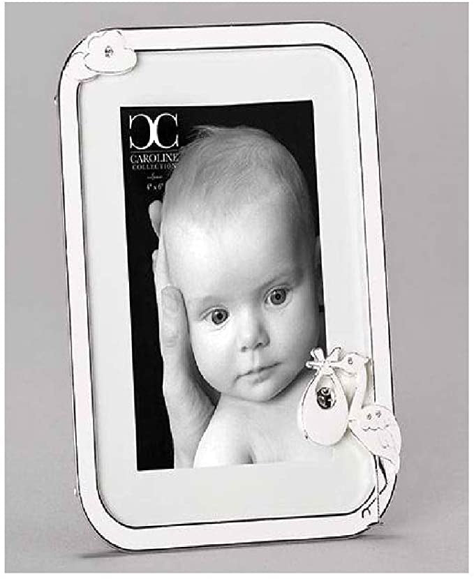 White Stork Baby Picture Frame