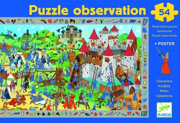 Knights Observation Puzzle and Poster