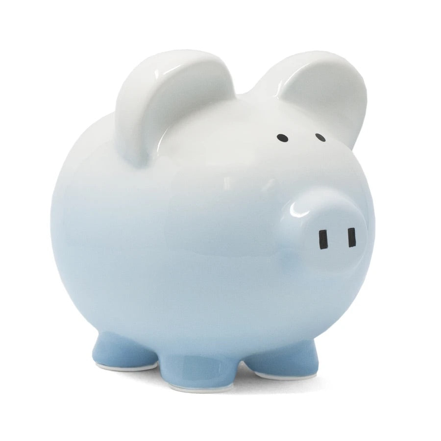 Blue Ombré Piggy Bank
