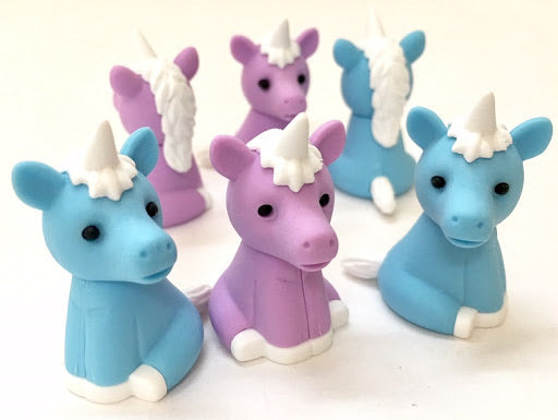 Blue and Purple Unicorn Erasers