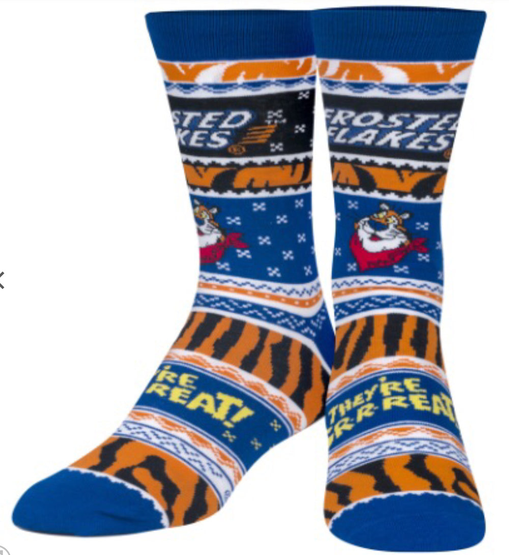 Kellogg's Frosted Flakes Tony Tiger Crew Knit Socks