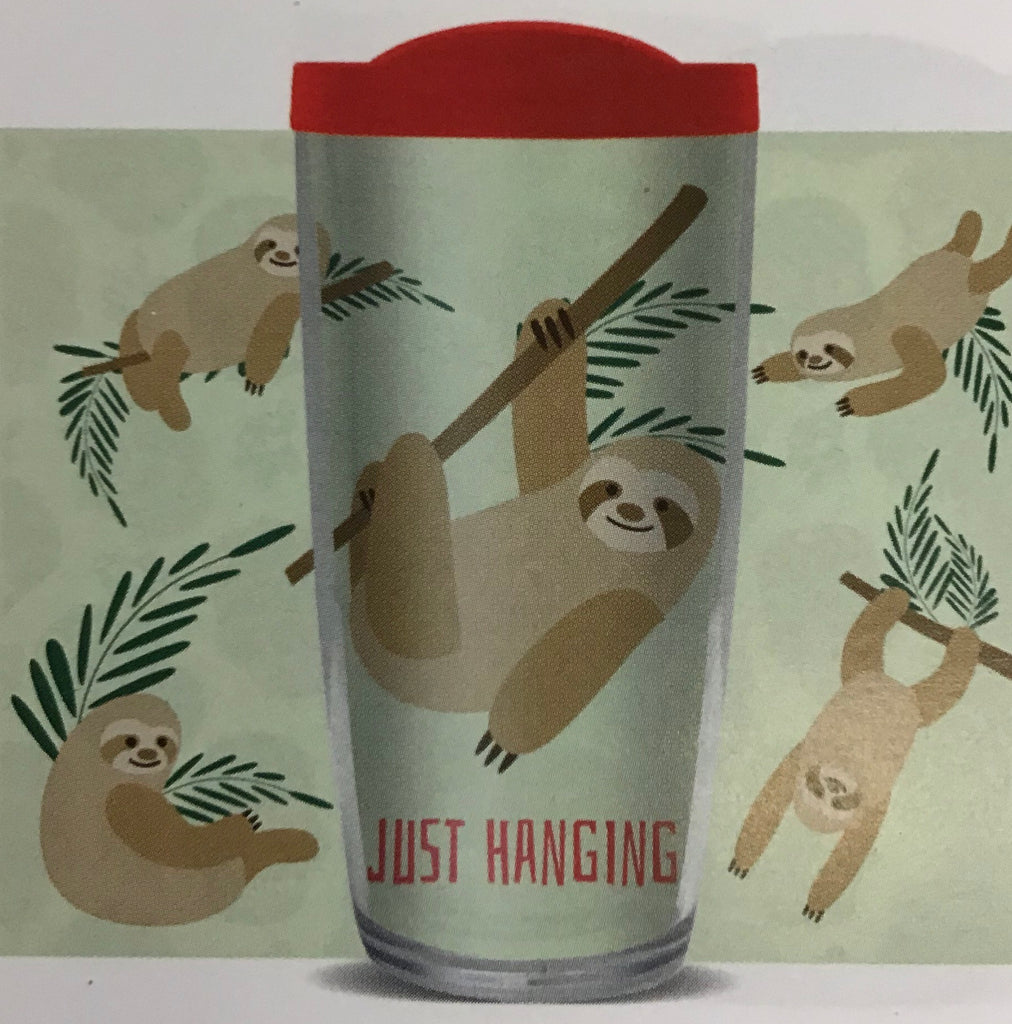 Just Hanging Sloth Tumbler