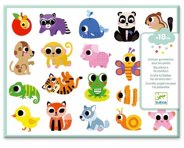 Baby Animals - Big Stickers for Toddlers