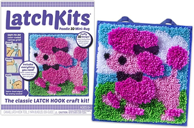 Latch Kit Poodle 3D Mini-Rug