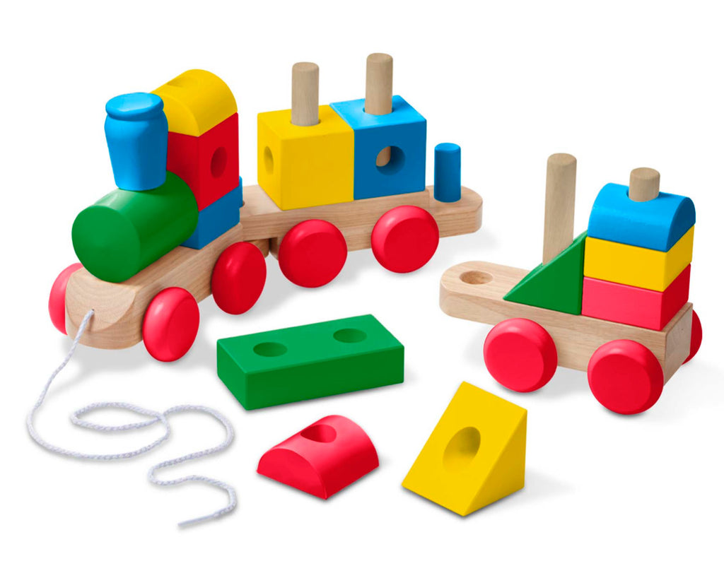 Classic Color Jumbo Wooden Stacking Train